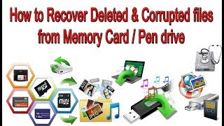How to Recovery Deleted OR formatted files from Computer/SD Card/Pen drive - Photos, Videos, Music