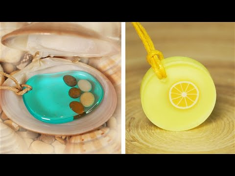 10 DIY JEWELRY IDEAS FOR TEENAGERS  Resin Accessories FAIRY PENDANTS MADE OUT OF AN EPOXY RESIN