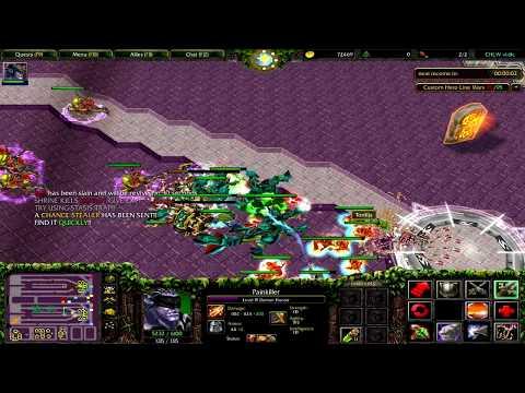 Warcraft 3 | Custom Hero Line War | First time | Win