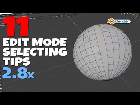 11 Blender 2.8 Edit Mode Left Click Selecting Tips!