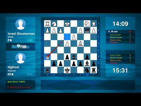 Chess Game Analysis: Israel Shusterman - djghost : 0-1 (By ChessFriends.com)