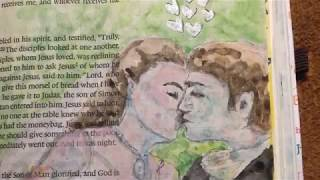 Bible journaling process video: the ancient Jewish wedding