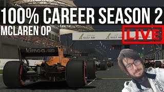 F1 2018 - 100% Distance Career Mode SEASON 2 | Round 2: Bahrain
