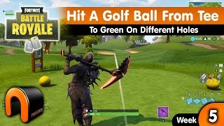 Hit A Golf Ball From Tee To Green On Different Holes FORTNITE