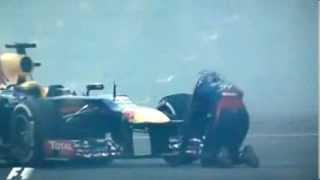 2013 World Champion Celebration Sebastian Vettel Donuts