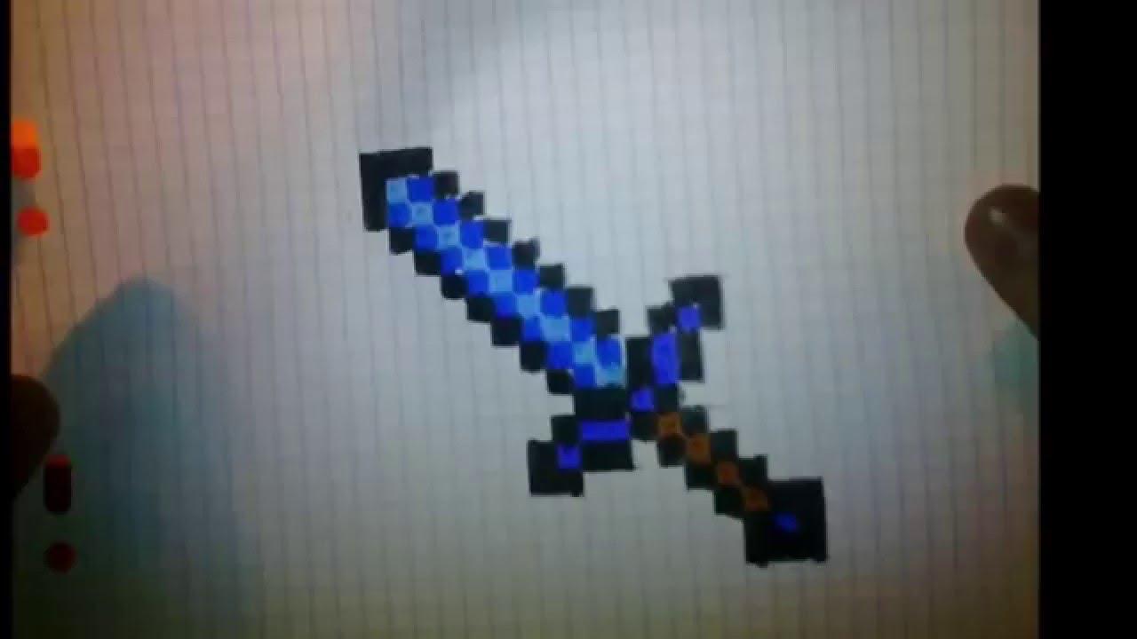 1er Dessin Minecraft L'épée