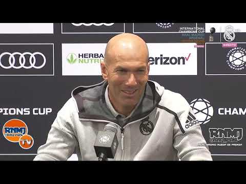 Rueda de prensa de Zidane post Bayern Munich 3-1 Real Madrid | ICC 2019 (21/07/2019)