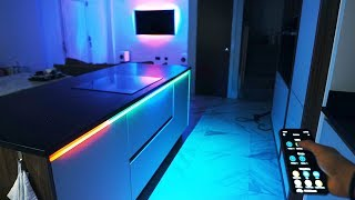 I MADE MY ENTIRE KITCHEN RGB WITH LED'S! *INSANE*