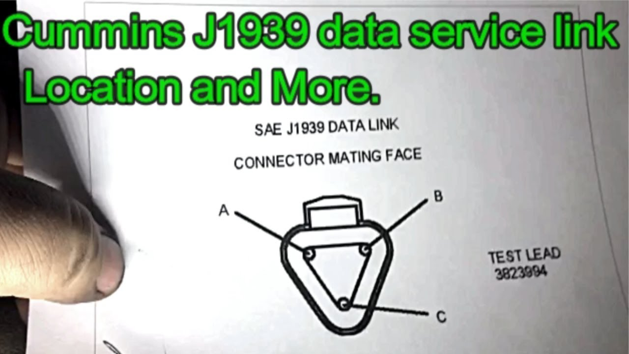 Cummins Diesel Isx Isb Service J1939 Service Data Link Location And More