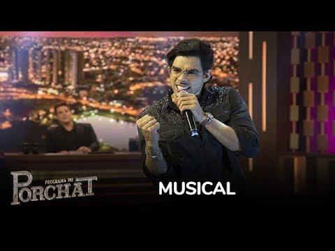 Gabriel Diniz canta o hit Acabou, Acabou e agita a plateia do Porchat