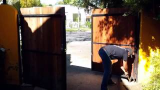 Redwood Gate Install Mulholland Security Centers Los Angeles 1.800.562.5770