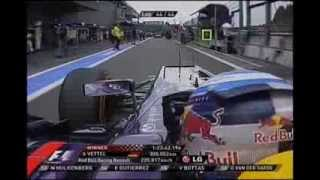 2013 Formula 1 Shell Belgian Grand Prix - Spa-Francorchamps - Last 5 laps and podium