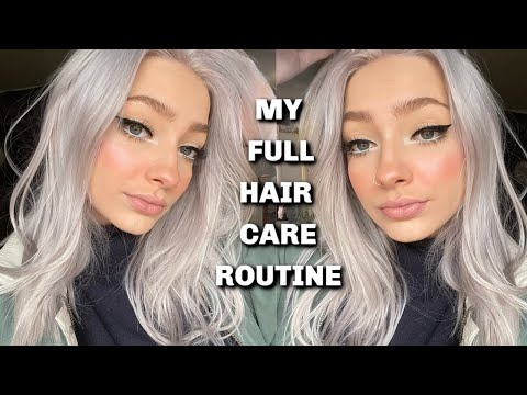 My FULL Hair Care Routine for PLATINUM!
