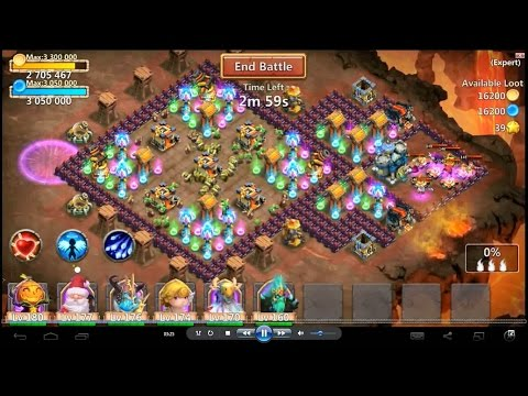 Castle Clash-Expert Dungeon 6-4 And 6-5 (3 Flame Victory)