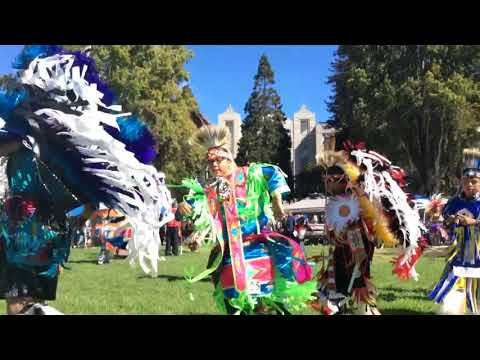 Grand Entry at the Berkeley powwow Oct 06 2018