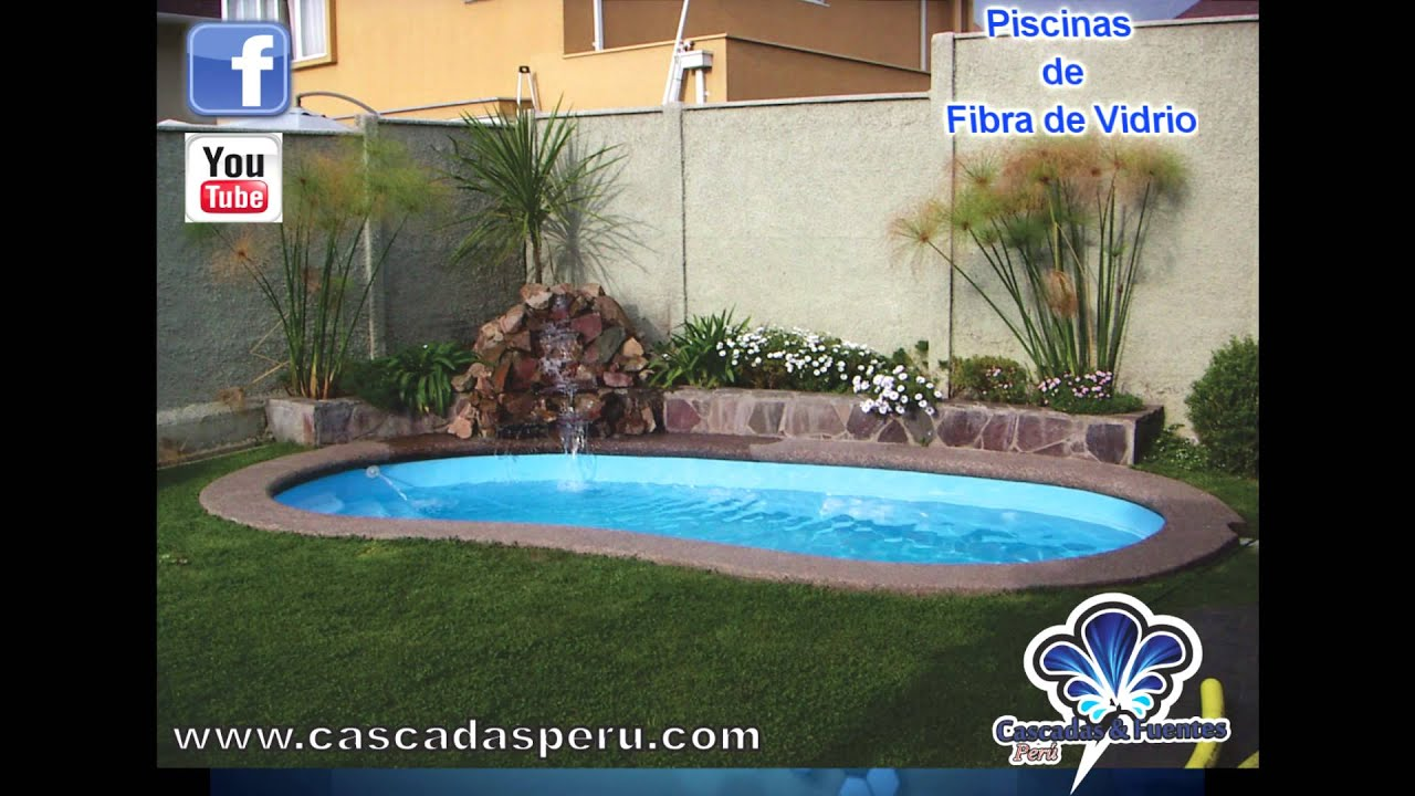 Piscinas y jacuzzi de fibra de vidrio en diferentes for Disenos de cascadas para piscinas