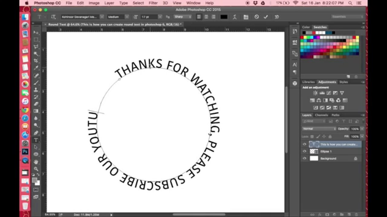 Photoshop 6 How To Create Round Circular Text In Photoshop 6
