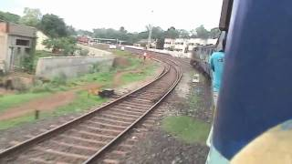 (HD) Arriving at Belgaum - Sharavati Exp. (Aug. 1, 2007)