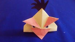 Оригами Angry Birds. Поделки из бумаги Angry birds paper folding origami