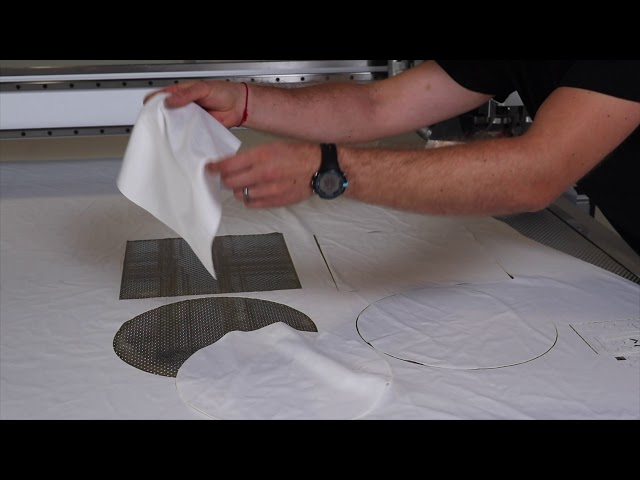 Cutting Fabric/Textile with our Laser