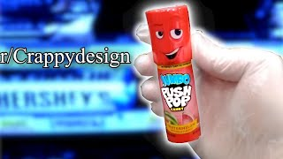 r/Crappydesign | push me pop me anytime baby,... 🤫😈