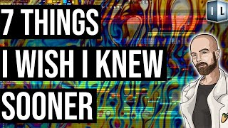 7 Things I Wish I Knew Sooner about music production