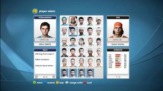 Top Spin 4 - Player Attributes and Skills