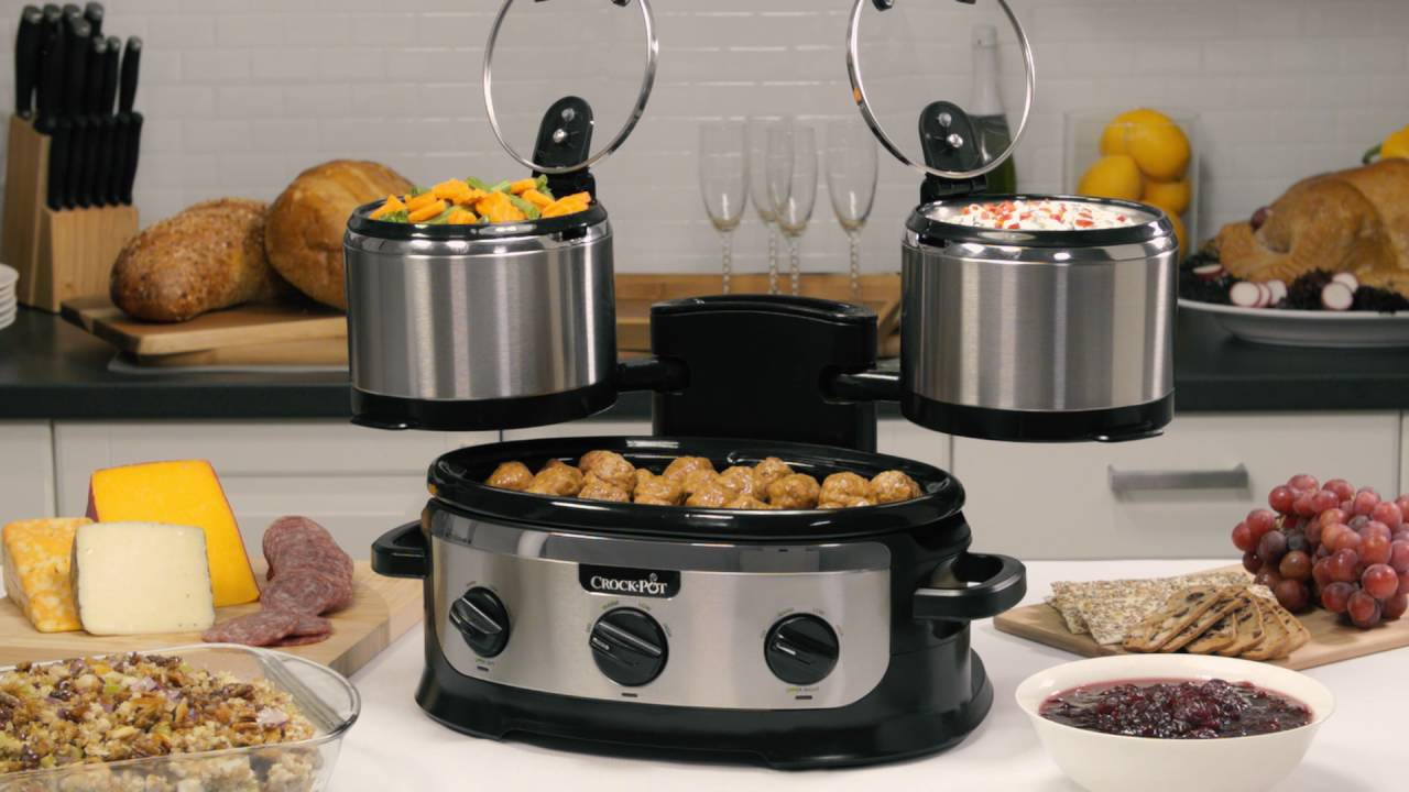 Stainless Swing And Serve™ Slow Cooker  Crockpot®