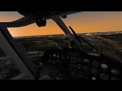 [X-Plane 10] An evening flight over the Helsinki Metropolitan VFR Scenery with BK117