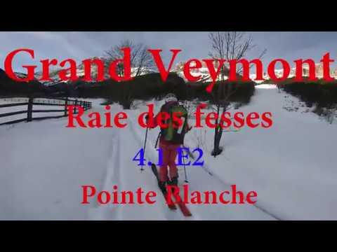 Grand Veymont, Raie des fesses 4.1 (E2) et Pointe Blanche - Vercors - Decembre 2019