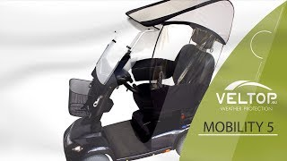 VELTOP MOBILITY 5 - Presentation of Rain protection for Mobility Scooter