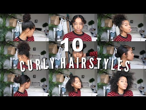 10 EASY CURLY HAIRSTYLES | Natural Hair