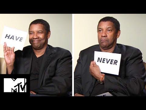 Denzel Washington Plays Never Have I Ever!   The Equalizer 2   MTV Movies