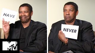 Denzel Washington Plays Never Have I Ever! | The Equalizer 2 | MTV Movies