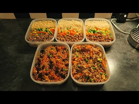 FULL WEEK VEGAN MEAL PREP #5 - BROWN RICE, BEANS AND VEGGIES