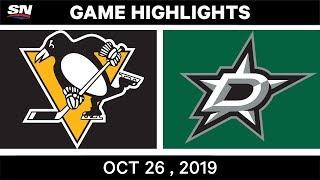 NHL Highlights   Penguins vs Stars - Oct. 26, 2019