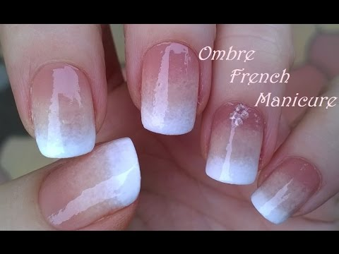 Ombre French Manicure Design Pure Sponge Nail Art Tutorial Youtube