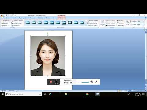 How To Create 2x2 And 1x1 Picture ID In Microsoft Word