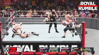 WWE 2K18 - 30 Man Royal Rumble Match-WWE-2K18-Gameplay(PS4)