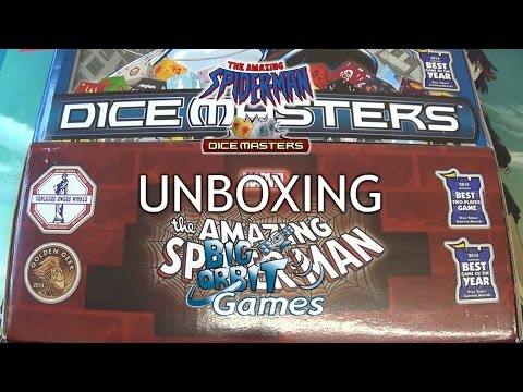 Marvel Dice Masters Amazing Spiderman Gravity Feed Booster Display Unboxing