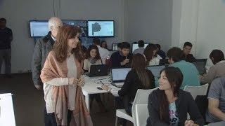 Cristina Kirchner recorrió junto a Jorge Taiana el centro de cómputos de Unidad Ciudadana