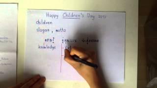 Grammar 5 นาที : Happy Children's Day 2015 : สุขสันต์วันเด็ก 2558 ค่ะ