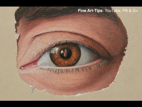 How to Draw Marcello Barenghi's Eye! - Drawing a Realistic Eye With Color Pencils