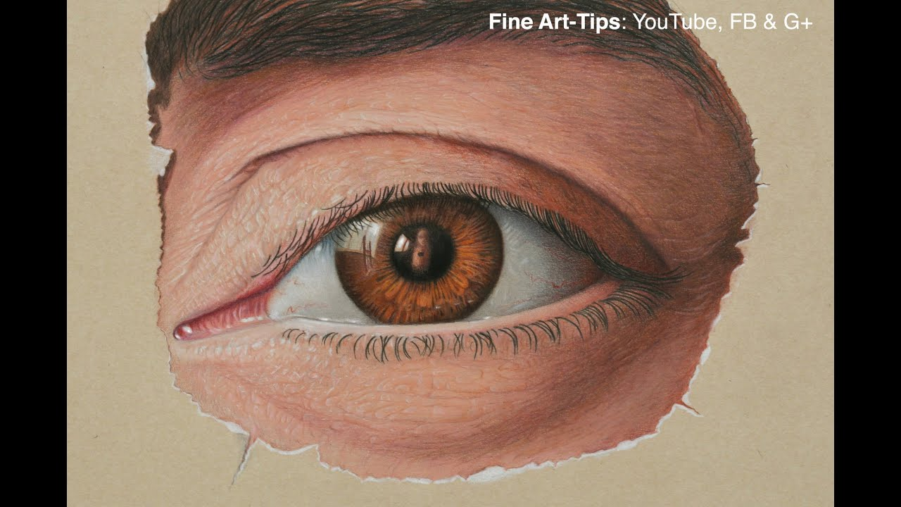 How to draw with colored pencils - How To Draw Marcello Barenghi S Eye Drawing A Realistic Eye With Color Pencils