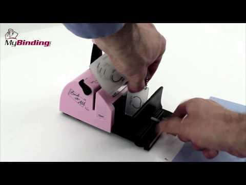 Zutter Bind-It-All Personal Portable Wiring Binding Machine Demo