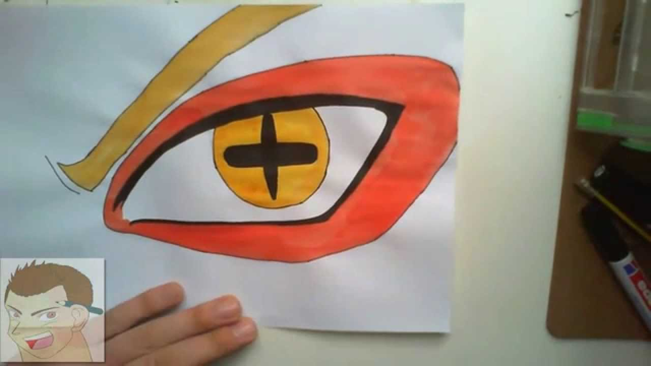 HOW TO DRAW NARUTO EYES KCM SAGE MODE FULL COLOR