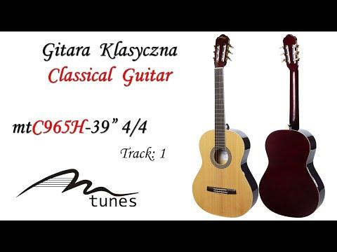 "Classical guitar 4/4 39"" M-tunes MTC965H video"