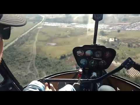 R44 voo próximo a Nova Santa Rita RS
