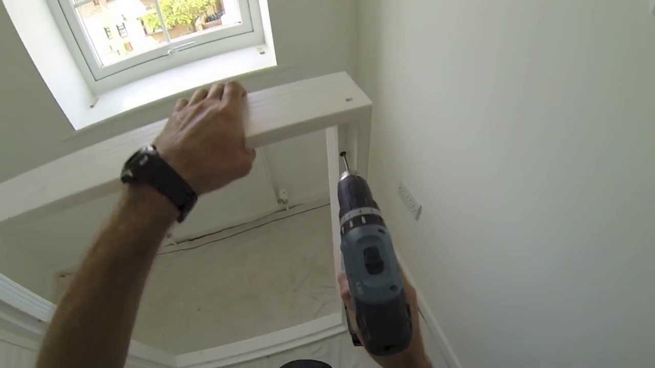 Plantation shutters how to predrill a DIY vinyl shutter frame