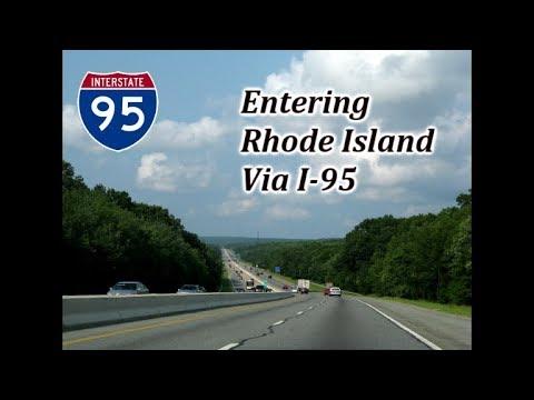 Entering Rhode Island Via I-95